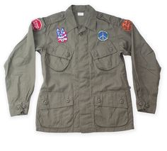 US ARMY TROPICAL JACKET PEACE STOP WAR