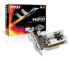 MSI N210-MD512D3/LP GeForce 210 512MB 64-bit DDR3 PCI Express 2.0 x16 HDCP Ready Video Card by MSI Computer Corp.. $42.21. MSI N210-MD512D3/LP GeForce 210 512MB 64-bit DDR3 PCI Express 2.0 x16 HDCP Ready Video Card
