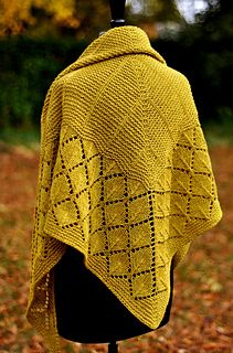 Ravelry: Quaking Aspen pattern by Dee O'Keefe Shawl Patterns, Lace Patterns, Stitch Patterns, Knitting Designs, Knitting Patterns Free, Knitting Projects, Lace Knitting, Knit Crochet, Crochet Shawl