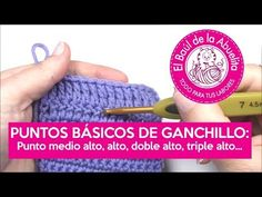 Crochet Videos, Tutorial Crochet, Knitting, Carrasco, Diy, Youtube, Halloween, Canvas, Half Double Crochet