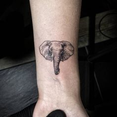 small elephant head tattoo