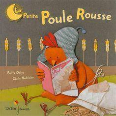 Une petite poule rousse trouve un grain de blé et cherche en vain de l'aide pour le planter. Adaptation du conte traditionnel anglais avec des illustrations à partir de collage.