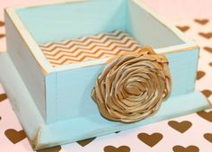 Guest book box dividers advice cards mint and gold guest book jewelry box ring box business card holder mint by peachykeenday reheart Images