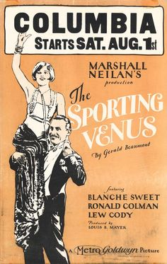 Vintage Movie Poster - 1925 That E in venus is almost like an ampersand