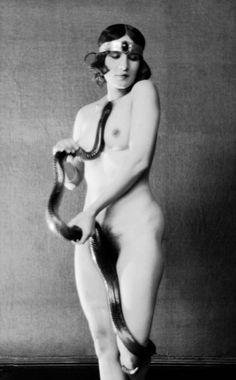 "realityayslum: "" Emil Otto Hoppe - Ms. Diana Verne, Dancer with Snake, 1922. … via the E.O. Hoppe Estate Collection """