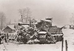 Tiger of Johannes Boelter - German tank ace number 4 near Nevel, Leningrad area winter 1944.