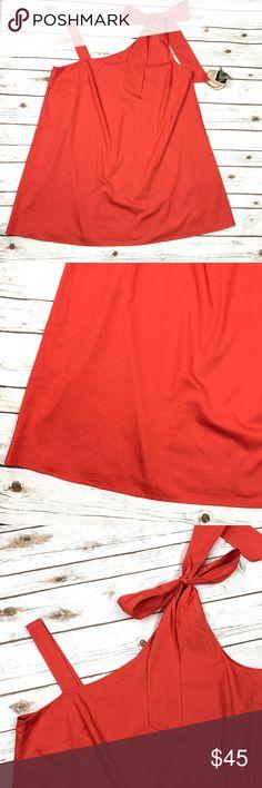 "NWT Asos Curve Bold Orange Bow Shoulder Dress 18 NWT Asos Curve Bold Orange Dramatic Bow Shoulder Plus Size Dress UK 22 US 18. Brand new, no flaws. 100% light cotton, a perfect statement making sundress. Shoulder can be tied however you wish. Bust- 50"", Hip- 62"", Length- 36"". ASOS Curve Dresses One Shoulder"