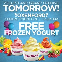 """@kate reynolds's photo: """"#Free Frozen Yogurt all day tomorrow at Yogurtland Centro #Oxenford (#QLD) Grand Opening. :-) Don't miss out! :-) #froyo"""""""