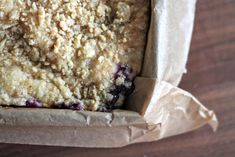 Blueberry Crumble Cake - this is fabous! Picked the blueberries right from our front yard!