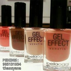 Esmaltes Gel effect keratini.  A maquiagem para suas unhas !!  Brilho e volume imediatos na primeira aplicação. Garante aderência e fidelidade a cor! Contém queratina para fortificar as suas unhas !