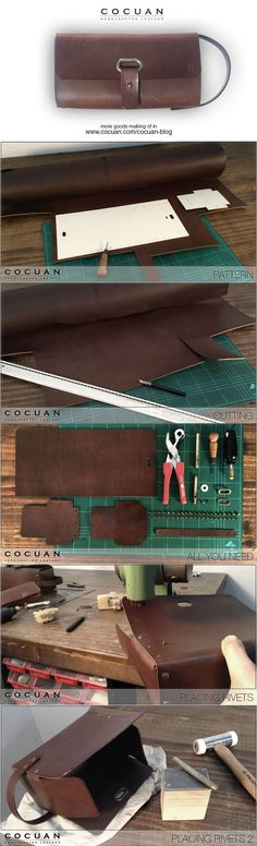 Dopp kit making of www.cocuan.com
