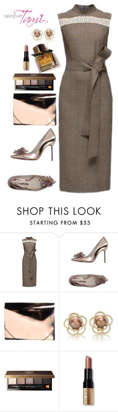 """""""Sunday"""" by talkingwithtami ❤ liked on Polyvore featuring Lattori, Sophia Webster, MM6 Maison Margiela, Bobbi Brown Cosmetics and Burberry"""