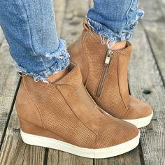 best website af08b ed85f Iris Wedge Sneakers