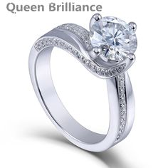 Ring. Queen Brilliance 1.5ctw Lab Grown Moissanite Diamond Engagement Wedding Ring Platinum Plated 925 Sterling SilverDeep discounts on over 300 products that enhance your life from day to day! Items for men and women of all ages, also teenagers. Take a look at our #jewelry #handbags #outerwear #electronicaccessories #watches #umbrellas #gpspettracker   #rings #blackgreekparaphenalia #Manmadediamomds