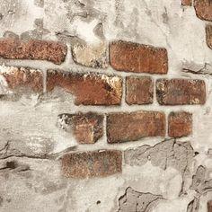 5583-13 Orange Red Brown Brick Rustic Wall Wallpaper – wallcoveringsmart Brick Wallpaper, Vinyl Wallpaper, Wallpaper Roll, Painted Brick Walls, Brown Brick, Rustic Walls, Mold And Mildew, Old World, Orange Red