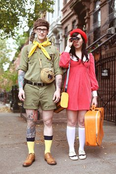 Moonrise Kingdom costumes @Lindsey Roeske can we do this?! I'll be the boy!
