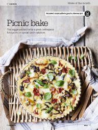 "Ratatouille ""Picnic bake"" tarte in August 2014 BBC Good Food"