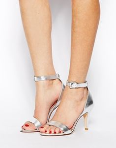 Asos _Dune Hunnie Di Silver Barley There Heeled Sandals