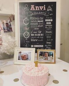 For my little sweetheart #1stbirthday #chalkboard #birthdaycake
