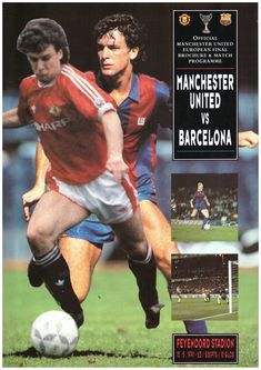 UEFA Cup Final 1991 matchday programme Retro Football, Football Program, Football Pictures, Manchester United, Sd, Religion, The Unit, Culture, Baseball Cards
