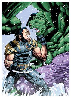 #Hulk #Fan #Art. (Ultimate Wolverine Vs Hulk) By: Pipin. (THE * 5 * STÅR * ÅWARD * OF: * AW YEAH, IT'S MAJOR ÅWESOMENESS!!!™)[THANK Ü 4 PINNING!!!<·><]<©>ÅÅÅ+(OB4E)