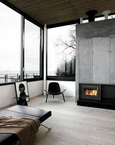 Danish Summerhouse; Hans J. Wegner CH07 Shell Chair available through Coalesse