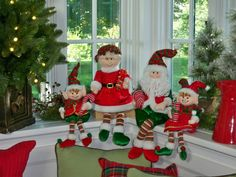 Just Adorable! Fabric Elf Family will sit just about anywhere in your home. H200638 http://qvc.co/ShopValerie