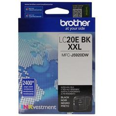 Ultra High Yield Black Ink - Brother International - LC20EBK