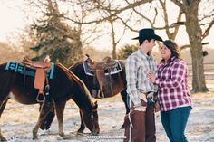 Kansas City Engagement Pictures - Young Couple - Engagement - Horses, Ranch, Photography www.steffenharrisblog.com