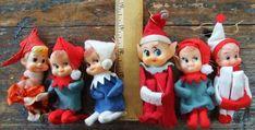 Vintage Felt Christmas Elves - Elf on A Shelf - Carol Aebersold | Notes From the Lane