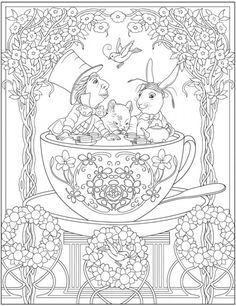 Alice In Wonderland Adult Coloring Book - √ 24 Alice In Wonderland Adult Coloring Book , 8 Tim Burton Adult Coloring Book Pages [printables Cat Coloring Page, Adult Coloring Book Pages, Disney Coloring Pages, Animal Coloring Pages, Colouring Pages, Creative Haven Coloring Books, Colorful Drawings, Mandala Art, Dover Publications