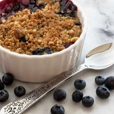 Ginger-Lime Peach & Blueberry Crisp with Toasted Hazelnut Streusel
