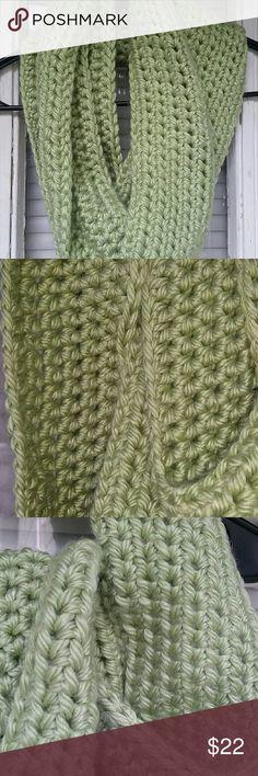 Infinity scarf Handmade crocheted infinity scarf  100% acrylic yarn  Very soft New never worn Accessories Scarves & Wraps