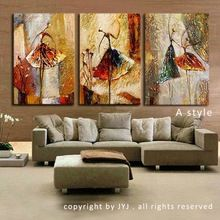 Hand Painted Modern Abstract Oil Painting on Canvas Wall Art for Living Room Decor Gift Ballet Dancer Picture Canvas Painting (China (Mainland))