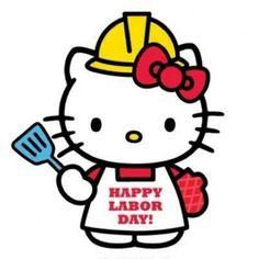 Labor Day from Hello Kitty Sanrio Hello Kitty, Hello Kitty My Melody, Labor Day Pictures, Labor Day Quotes, Hello Kitty Imagenes, Hello Kitty Pictures, Kitty Images, Hello Kitty Birthday, Hello Kitty Wallpaper