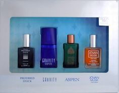 Coty Omni Collection 4 Piece Gift Set for Men by Coty. $14.89. Packaging for this product may vary from that shown in the image above. We offer many great sales and discounts making this fragrance cheaper than at department stores.. Coty Omni Collection Cologne for Men 4 Pc Gift Set ( Cologne 0.5 Oz Of Preffered Stock, Aspen, Jovan Musk + Cologne Spray 0.5 Oz Gravity ). 4 Pc Gift Set ( Cologne 0.5 Oz Of Preffered Stock, Aspen, Jovan Musk + Cologne Spray 0.5 Oz Gravity ) for Me...