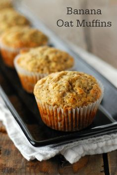 This Banana Oat Muffins Recipe is the ideal grab-and-go morning treat or yummy after-school snack. Quaker® Quick Tip: Try them fresh out of the oven with a smear of peanut butter!