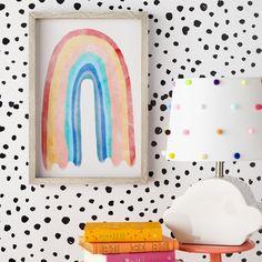 Rainbow Room Kids, Rainbow Bedroom, Rainbow Nursery, Rainbow Wall, Rainbow Decorations, Little Girl Rooms, Drew Barrymore, Colorful Girls Room, Bedroom Ideas