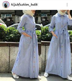 c685f09903b55 60 Looks de Hijab avec robe longue chic et simple pour vous inspirer -  astuces hijab