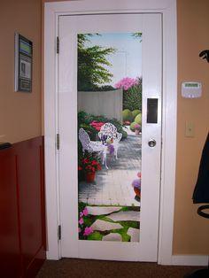 Trompe l'oeil Door Mural by The Art of Life