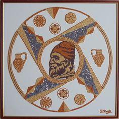 Daniel Roxin: Reprezentare grafică cu simboluri dacice și tradiț... Mandala, Symbols, Traditional, Cool Stuff, Google, Tatoo, Tattoo, Cool Things, Icons