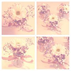 potes de flores decorados