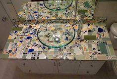 mosaic counter top