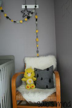 déco chambre jaune et grise