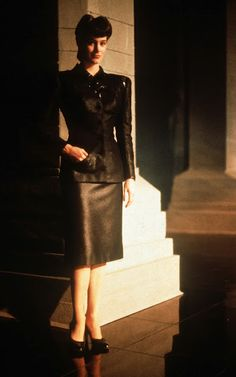 Stylistically, this whole movie is amazing. Love Ridley Scott's aesthetic! Pris and Rachel are such beautiful creatures in this film. Sean Young in Blade Runner / Costume design by Michael Kaplan & Charles Knode.