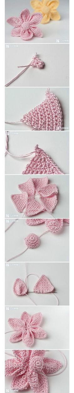 DIY Crochet Flower !  See more : https://www.youtube.com/channel/UC2iZiJnsFuIU7L5-8-ULlvA
