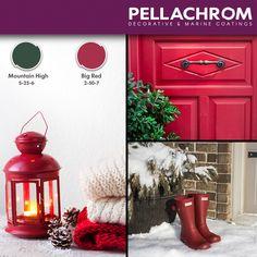 Τα Χριστούγεννα πλησιάζουν με όμορφα χρώματα και αρώματα που θα εκτοξεύσουν την γιορτινή μας διάθεση! 🌲😁 #pellachrom #colors #paints  #december # #christmashues #christmasvibes Color Combinations, Paint Colors, December, Inspire, Painting, Inspiration, Decor, Laughing, Rome