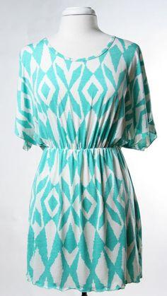 Knit Tibal Print Dress