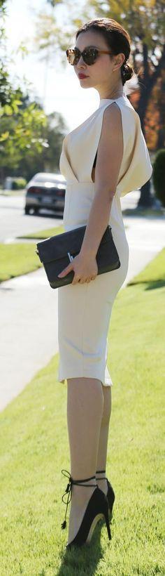Fashion trends   Elegant white dress   Just a Pretty Style