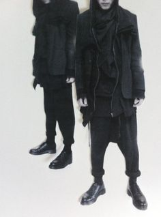 glacierism:  little cutouts for my project  #fashion #avantgarde #dark    i think he's the main reason why this whole Mens apparel fascination started.